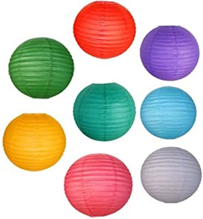 Just Artifacts 8 Assorted 12-Inch Chinese Paper Lanterns (Assorted Colors, 12-Inch) - Item as Pictured