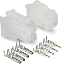 Molex Connector Lot, 3 Matched Sets, (4-Circuits) w/18-24 AWG, Pin Size: Standard .0165