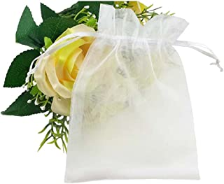 Apq Pack Of 100 Clear Drawstring Bags