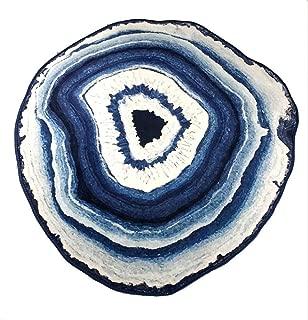 NOYBLI Bathroom Carpet Large Carpets Striped Carpet Soft and Smooth Crystal Velvet Fabric Large Carpets for Living Room,160x160cm