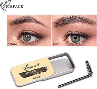 Leadmall Eyebrow Soap Kit - Brows Long Lasting Styling Soap 3D Waterproof Eyebrow Gel Makeup Balm Pomade Cosmetics - Eyebrow Feathery Styling Pomade for Natural Brows