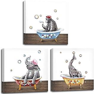 Cute illustrations Childrens wall art Childrens picture Bath time Bathroom wall art Whimsical wall art Nursery art