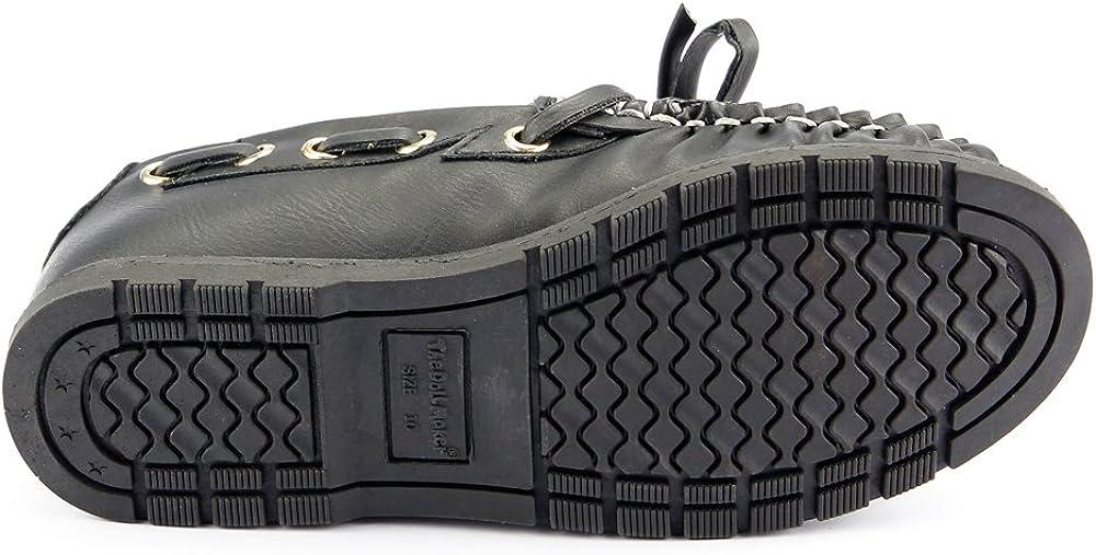 Boy's Black Boat Loafer Shoes Comfortable Stylish Slip on Youth Sz 1