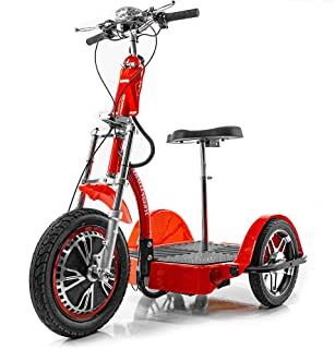Challenger X Fast Electric Recreational Mobility Scooter, Powerful 800 W Motor, Red