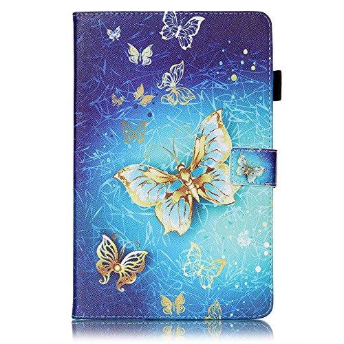 Cover per Galaxy Tab E 9.6 [Auricolare gratuito], Schede Custodia Pelle Portafoglio Protettiva Antiurto TPU Guscio Interno Chiusura Fibbia Cover Case per Samsung Galaxy Tab E 9.6 Inch SM - T560 / T561