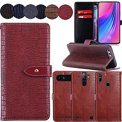 QHTTN Muster Premium Rot Leder Tasche Hülle Für Elephone S1 5