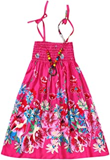 7868137d2 Vestidos Niñas Fiesta Casual Ropa Bebe Niña Verano para Bebés Niños Vestidos  con Estampado Floral Playa