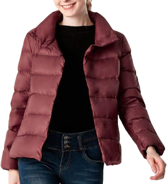 Desolateness Women's Lightweight Packable Down Jacket Winter Warm Down Coats
