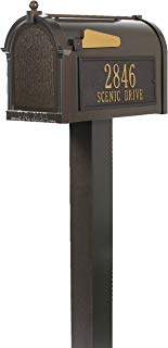 Whitehall Products Premium Mailbox Package -French Bronze,