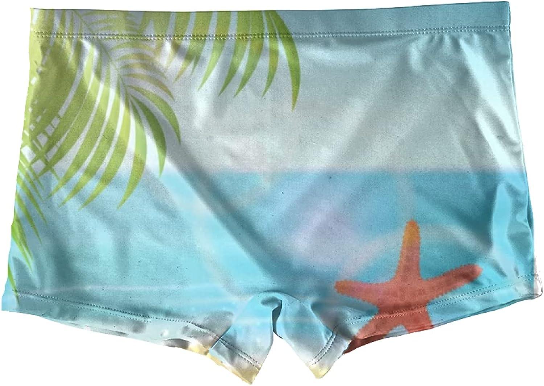 Ocean sea Turtle Coral Special Underwater Boxer Briefs For Girls Kids Underwear Boyshorts Undies Toddler