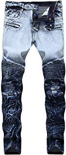 Jeans Stretch Gradient Stitching Color Denim Bootcut Jeans Trousers Casual Pants
