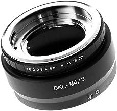 Runshuangyu Lens Mount Adapter for Voigtlander Retina DKL Lens to Micro 4/3 M4/3 Panasonic GH3 G2 GH4 GH5 GH5s GX7 G1 G7 G9 GF1 GF7 GF9 GX1 GX85 Olympus OM-D EM1 EM5 E-M10 II III E-PL5/6/7/8/9