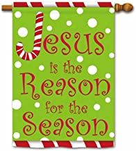 KafePross Merry Christmas Jesus is The Reason for The Season Decorative House Flag Happy Winter Snow Decor Indoor and Outdoor Banner 28