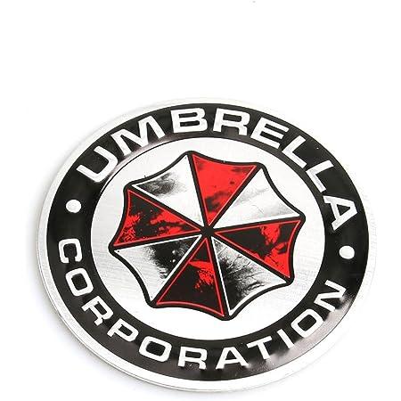 Umbrella Corporation Resident Evil Runden Beunruhigt Metall Auto Aufkleber Abzeichen Decal Sport Freizeit