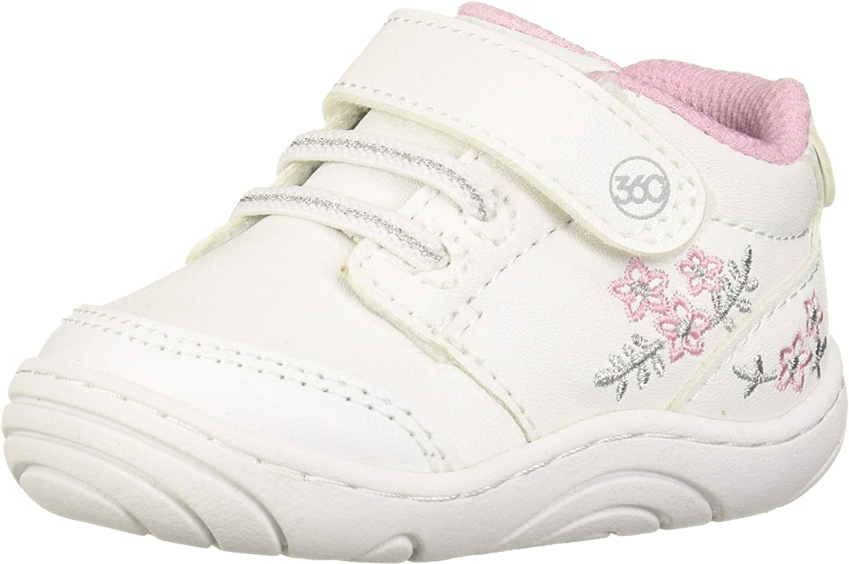 EEFRVDFFDE Baby Girl Boy Rivet Design Shoes Breathable Anti-Slip Sneakers Toddler Soft Soled First Walkers Black,Pink,Gray