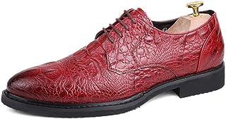 Moda para Hombres Oxford Oxford Puntas Cómodas Personalidad Completa Completo Patrón de cocodrilo Suela de Costura Zapatos...