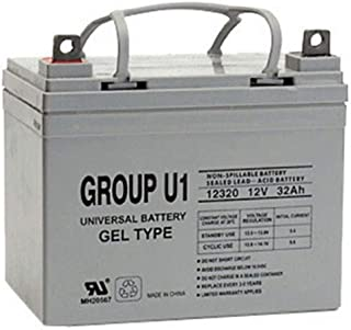 Universal Power Group 12V 32Ah U1 Wheelchair Scooter Gel Battery