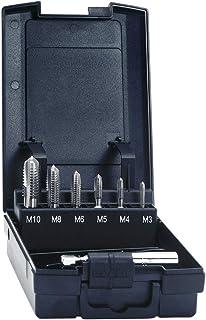 """Kayser 5937 Jeu de forets à tarauder M3-M10 + adaptateur, tige d'embout 1/4"""", HSS, DIN 3126"""