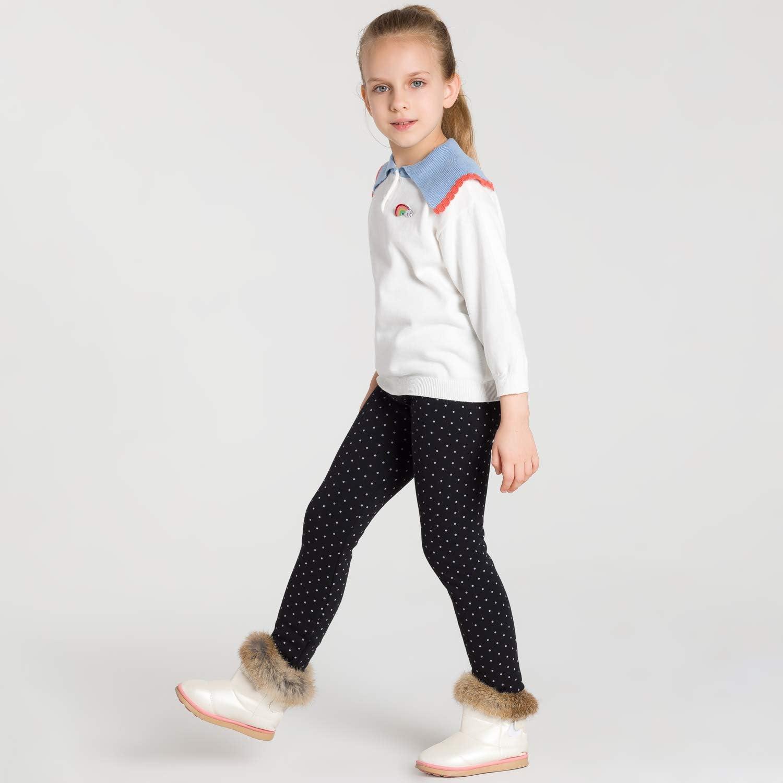 Adorel Leggings Invernali Leggins Felpati Bambina