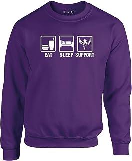 Eat Sleep Support Felpa Girocollo per Adulti Brand88