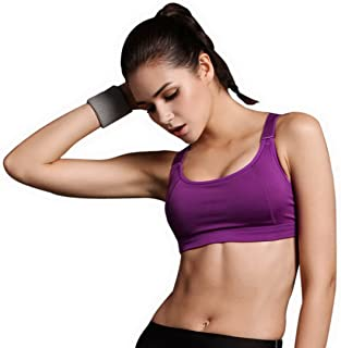 c7f1cf5fe6 Encounter Handsome Komfort Damen Starker Halt Gepolsterter Push up Ohne  Buegel Sport BH Bustier Stretch Sports