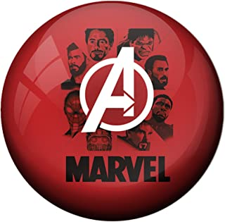 AVI Fridge Magnet with Red Colour Avengers Infinity war All in one Ironman Thor Hulk Captain America Panther dr Strange Sp...