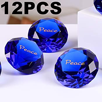 Paperweight With Inspirational Saying 12pcs Gratitude Rockimpact Large Engraved Sapphire Crystal Diamond Jewel Home Decor Pack Of 12 Gratitude Cobalt Blue Bulk Wholesale Wedding Table Decoration Paperweights Office Products