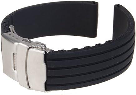 aa9c138842 時計バンド 交換ベルトシリコーンゴム 腕時計ストラップ 防水 18mm ブラック