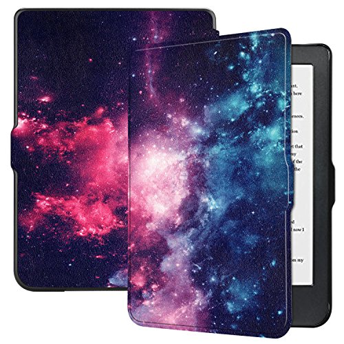Kobo Clara HD Case - Ratesell Premium Folio Smart-Shell Stand Slim Lightweight Case Cover with Auto Sleep/Wake for Kobo Clara HD Tablet Outer Space