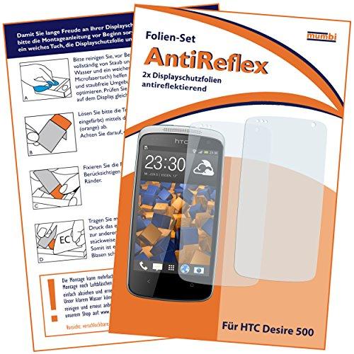 Bruni Schutzfolie kompatibel mit HTC Desire 500 Folie, glasklare Bildschirmschutzfolie (2X)