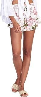Elan Women's Floral-Print Ruffled Drawstring Shorts
