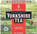 Yorkshire Tea (ヨークシャーティー 80袋)- 80 Bags / 250g【海外直送品】【並行輸入品】