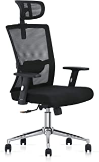 Multi Home Furniture MH-827 Ergonomic Computer Desk Chair for Office and Gaming with headrest, back comfort and lumbar sup...