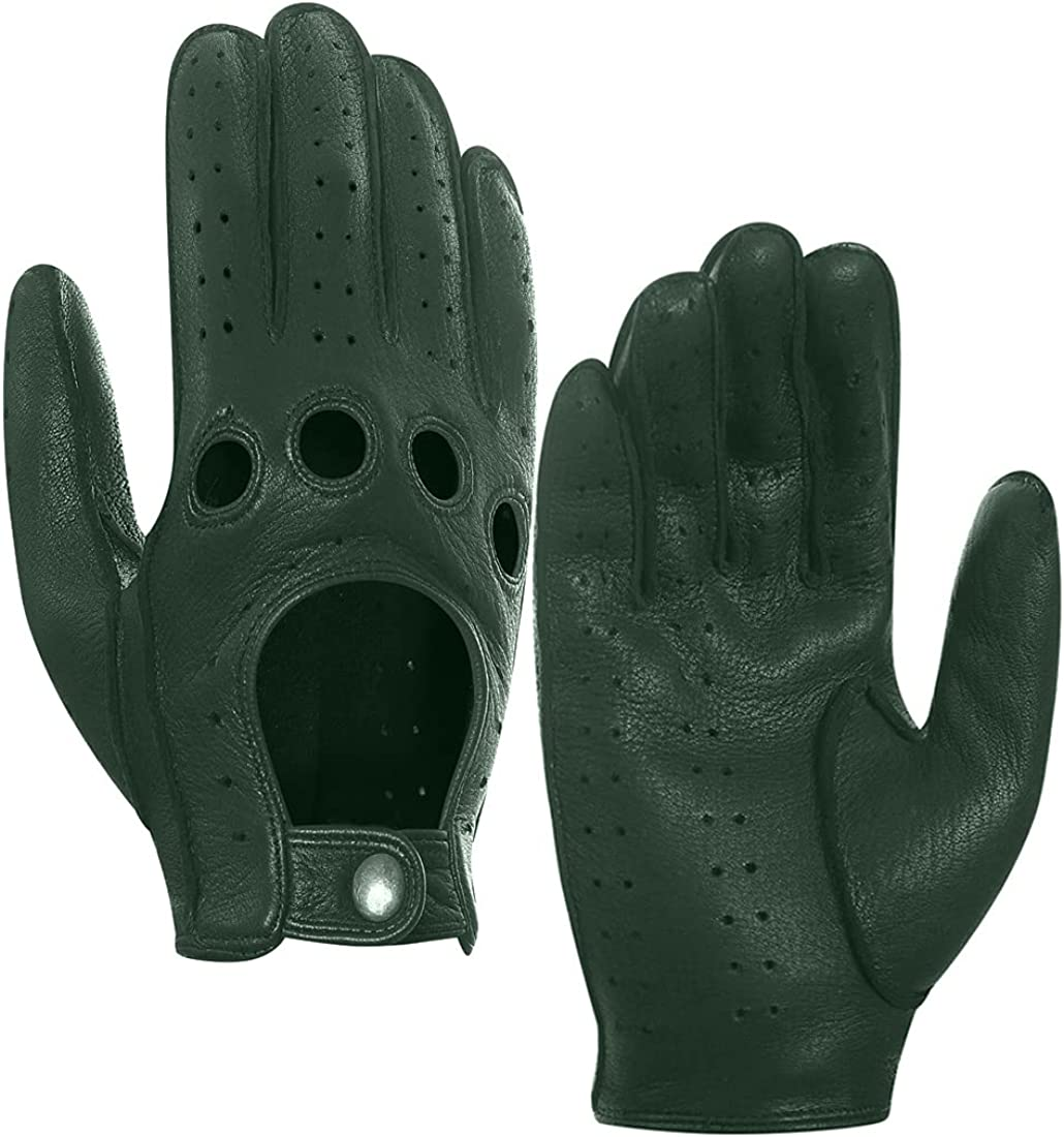 Harssidanzar OFFer Mens Leather Driving Limited Special Price Gloves Unlined