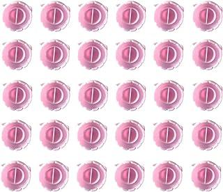 Lurrose 100Pcs Titular Anéis de Tatuagem Copos Xícaras de Cola Cola Chicote Cola Extensão Dos Cílios Anéis Nail Art Titula...