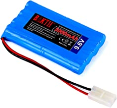 BAKTH 9.6V 2000mAh NiMH RC Paquete de Carreras de baterías para Modelos de Coches, Aviones, Robots (Juguetes), batería de Alto Rendimiento RC + Posavasos como Regalo