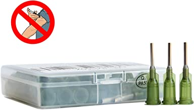 BSTEAN Industrial Unsterilized Blunt Tip Dispensing Needle with Luer Lock 14 Ga 1/2 Inch - 50 PCS