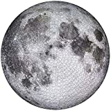 Moon Gradient Puzzle, 1000 Pieces Jigsaw Puzzle for Adults Kids- Full Moon Puzzle, Large Round Jigsaw Puzzle Difficult and Challenge,Decompression Puzzle Educational Game