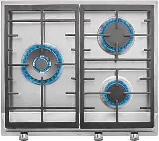 comprar comparacion Placa de Gas natural con 3 quemadores de alta eficiencia y parrillas de fundición en 60 cm