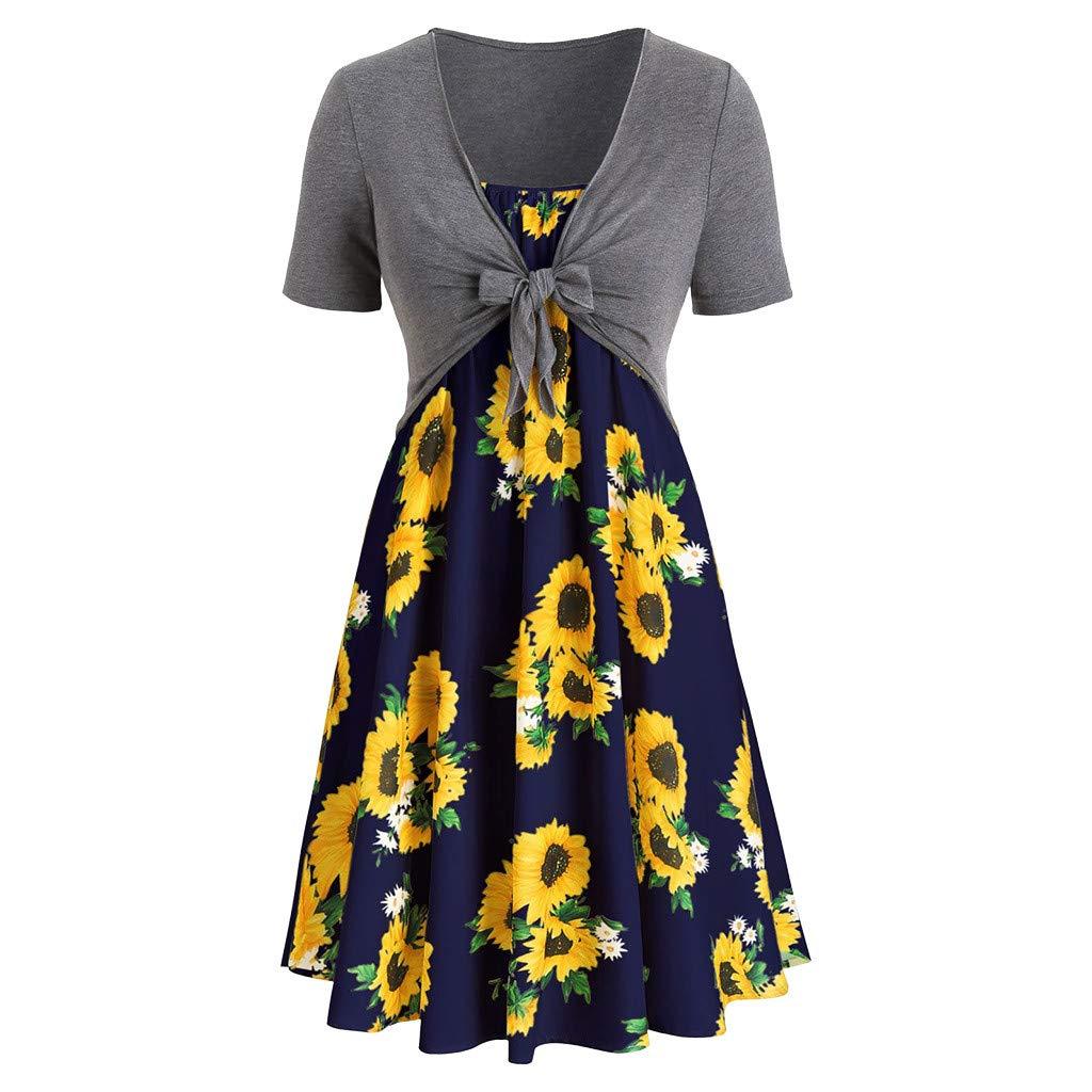 Available at Amazon: POTO Dress Women's Party Tank Beach Dress Sundress