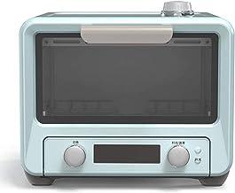 Mini horno, horno eléctrico, temperatura ajustable, temporizador, horno de hogar horno eléctrico horno, pan de pastel multifuncional completo automático con accesorios 15L 1200W