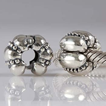 Pumpkin Clip Stopper Charms 925 Sterling Silver Halloween Charm Clip Lock Stoppers Beads for DIY Charms Bracelets (J)