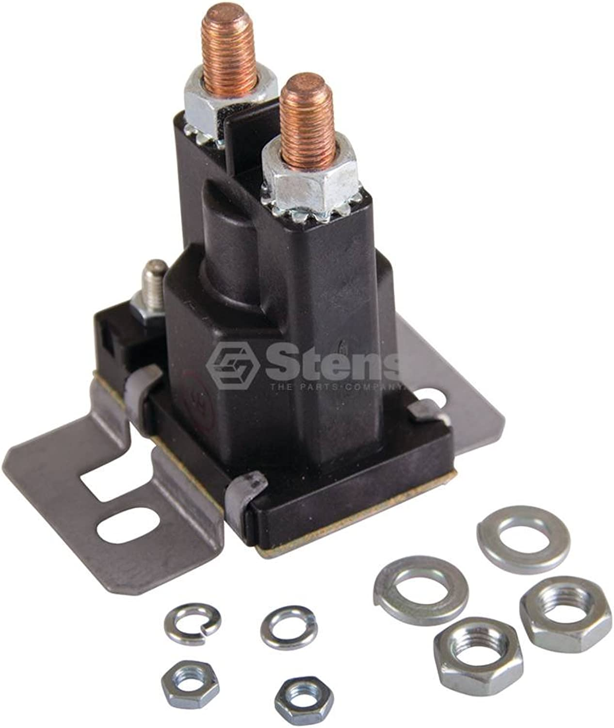 Stens 435-356 Starter Solenoid, Replaces Club Car  101975901, Fits Club Car  Ds, Electric, 1997 and Newer, 120 Series Tower Style, 4 Terminals, 36V