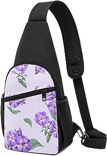 Bolsa de hombro con patrón de Phlox, ligera, para el pecho, bolsa cruzada, para viajes, senderismo, para hombres y mujeres