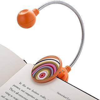 WITHit フレンチブルクリップオンブックライト – リング – LED読書灯 クリップ付き 書籍や電子書籍用 グレアを軽減 ポータブル 軽量ブックマークライト 子供と大人用 電池付き