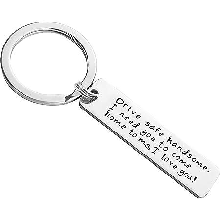 Hand Stamped Personalized Boyfriend Gift Couple Keychains Anniversary Gift for Boyfriend Couples Gifts Anniversary Gifts
