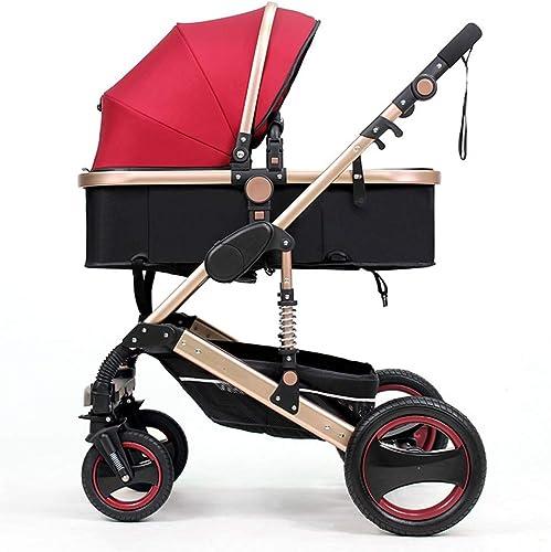 aquí tiene la última Cochecito Cochecito Cochecito de bebé portátil Implementación bidireccional Cesta de dormir Fácil de viajar Cuna comoda Sistema de viaje modular Cochecito de bebé,rojo,64  80  105cm  deportes calientes