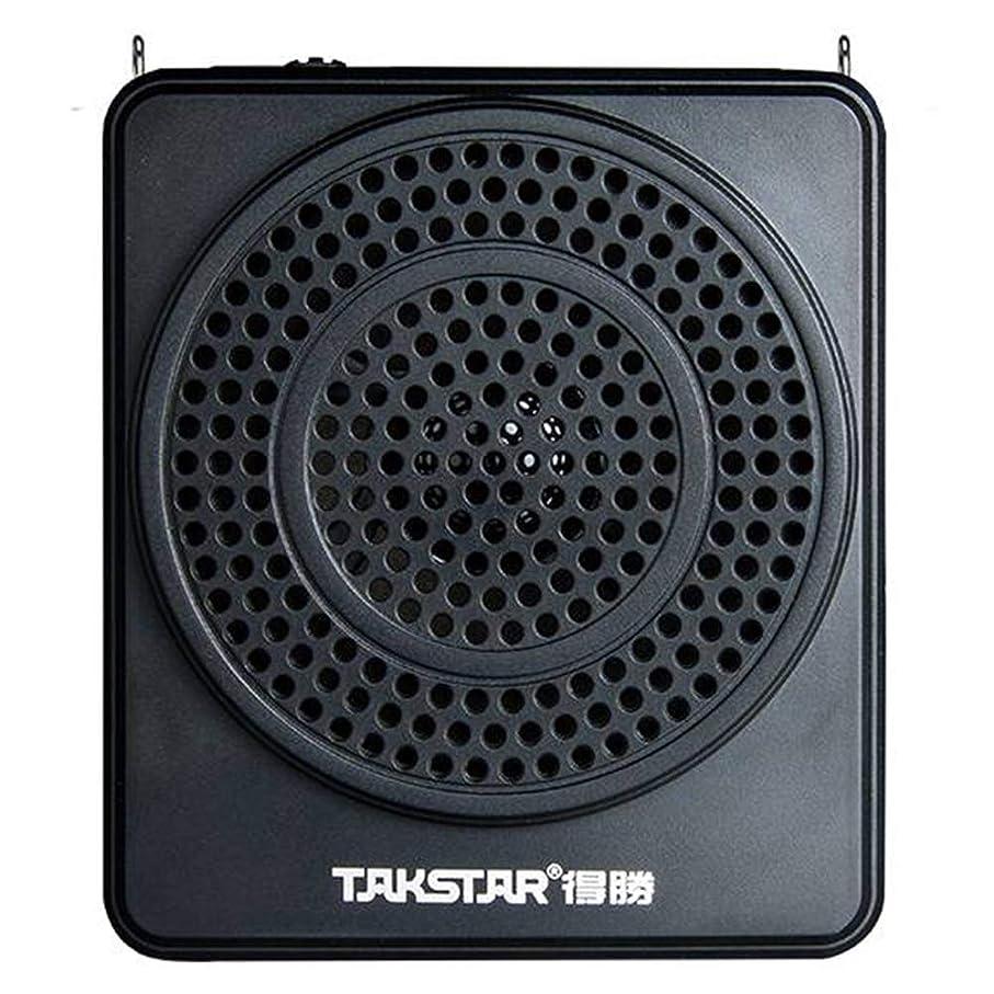 施し日トリプルTAKSTARポータブル有線音声アンプ、マイクヘッドセットおよびウエストバンドサポートTFカードMP3フォーマットオーディオツアーガイドトレーニングコーチ教師(E180M) (黒)