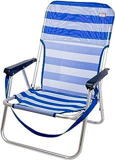 Aktive 53950 Silla Plegable Fija Aluminio Beach, 40 x 56 x