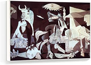 NWT Framed Canvas Wall Art for Living Room, Bedroom Pablo Picasso Guernica Canvas Prints for Home Decoration Ready to Hanging - 16x24 inches